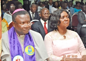 Methodist Church Presiding Bishop Prof. Emmanuel Asante and Chief Justice